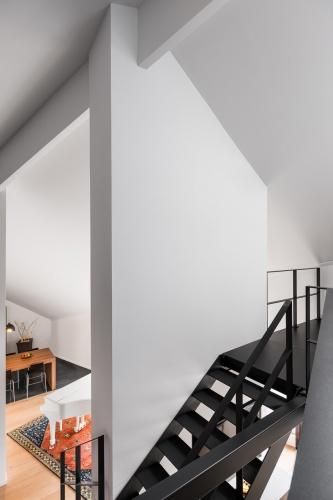 Restructuration complète d'un grand appartement en duplex : architecte lille loft duplex industriel poutre métal parquet cuisine ilot piano décoration intérieur Jean-Philippe AUGUSTO (4)
