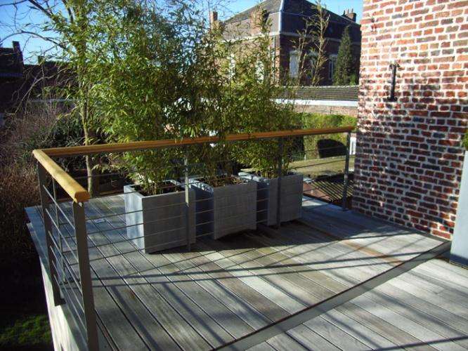 Construction bois et  terrasse : terrasse
