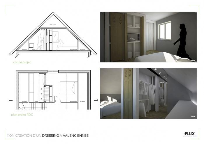 Un dressing généreux à VALENCIENNES (59300) : architecte lille plux aménagement intérieur loft studio appartement loft maison design décoration