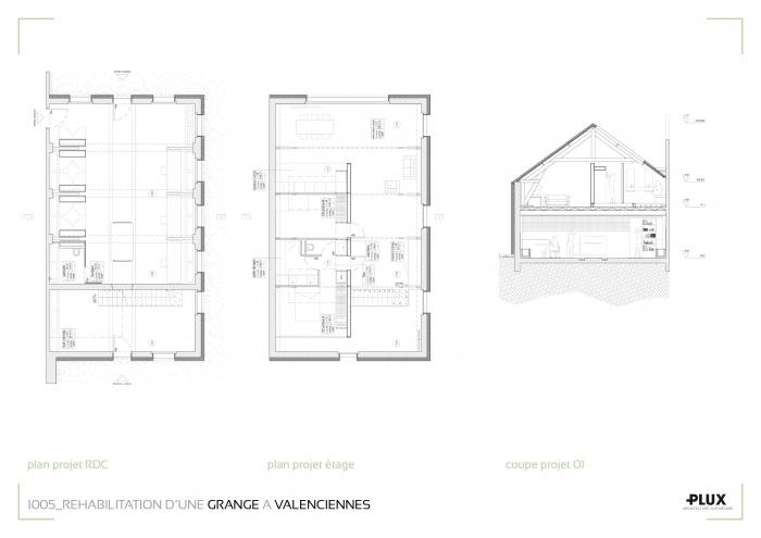 Réhabilitation de la grange Pierre à VALENCIENNES (59300) : architecte lille plux aménagement intérieur loft studio appartement loft maison design décoration