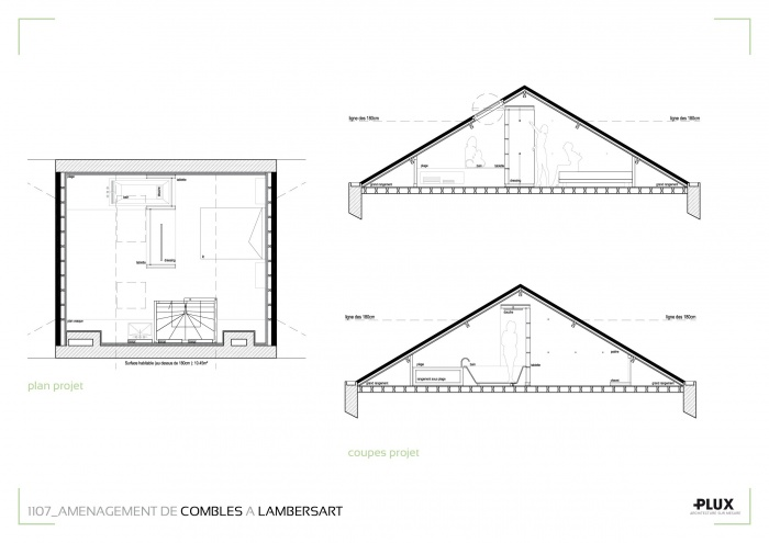 Combles am nag s lambersart 59130 lambersart une for Combles amenages suite parentale