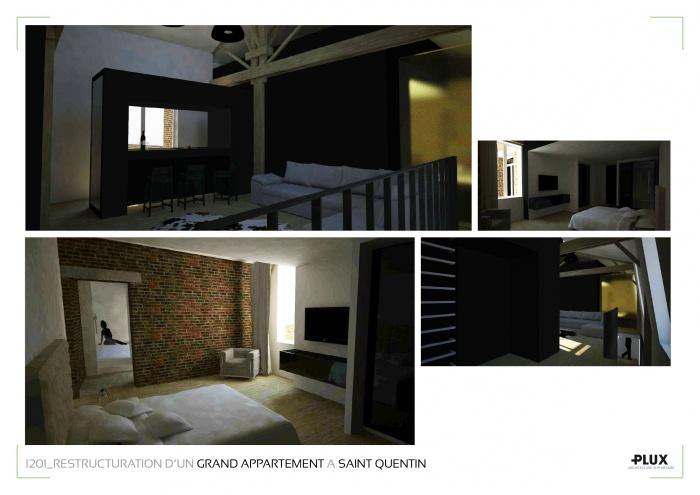 r novation et extension d 39 un grand appartement saint quentin 02100 saint quentin une. Black Bedroom Furniture Sets. Home Design Ideas