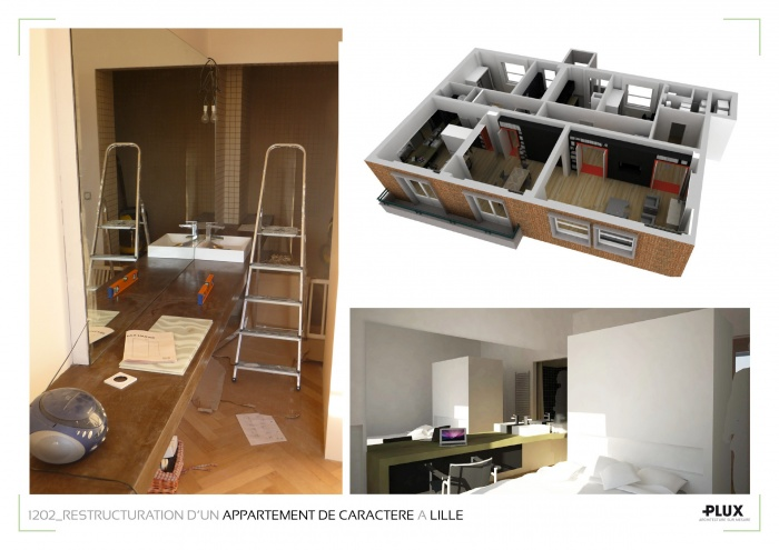 Am nagment d 39 un appartement de caract re lille 59000 for Amenagement interieur appartement