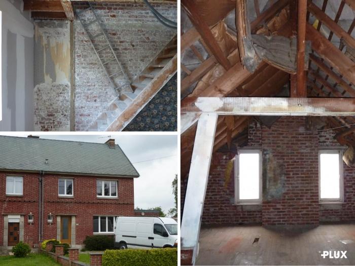 Réhabilitation d'une maison en trois appartements près de VALENCIENNES (59300) : Réhabilitation d'une maison en appartements Valenciennes architecte lille plux1.jpg