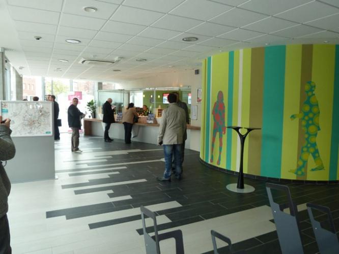 Espace vente pour Transpole : accueil de l'espace vente