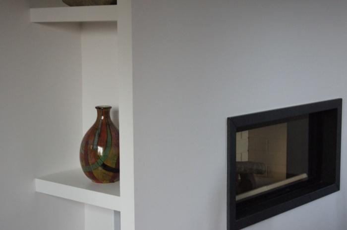 Maison individuelle à Boeschepe (59) : detail cheminée