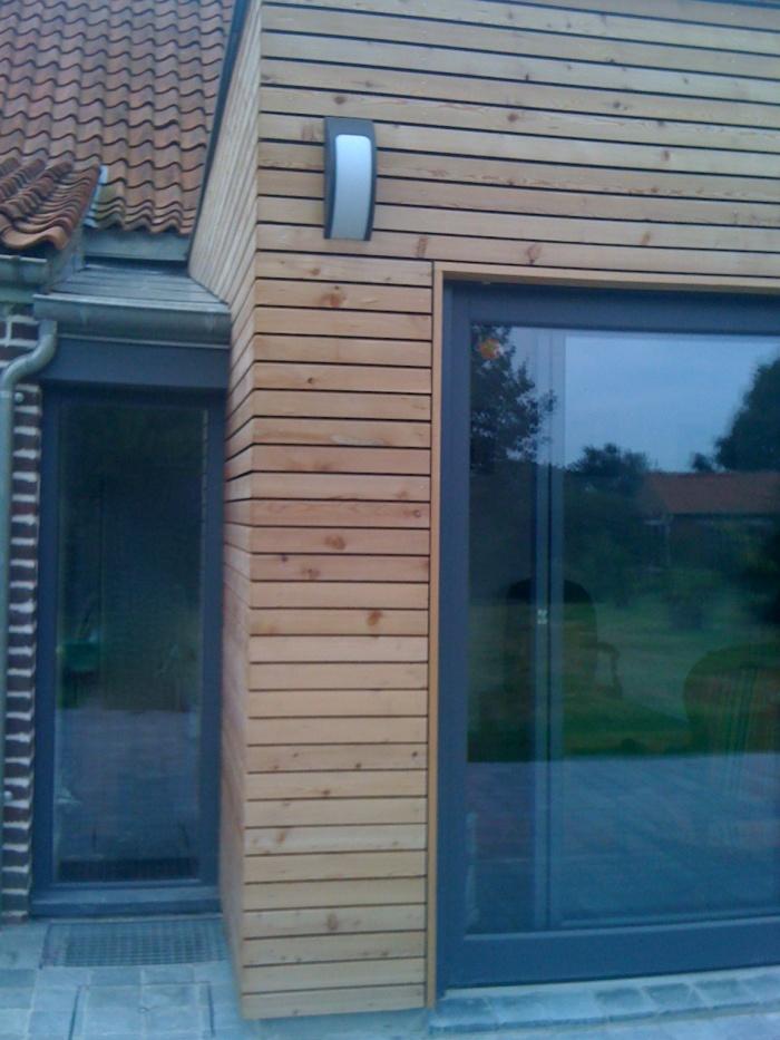 Maison individuelle à Boeschepe (59) : détail extension