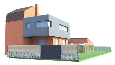 sur l vation d 39 une maison individuelle lambersart lambersart une r alisation de amiot. Black Bedroom Furniture Sets. Home Design Ideas