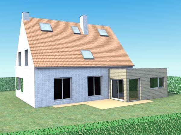 Extension bois d'une maison à Marcq-en-Baroeul. : infographie