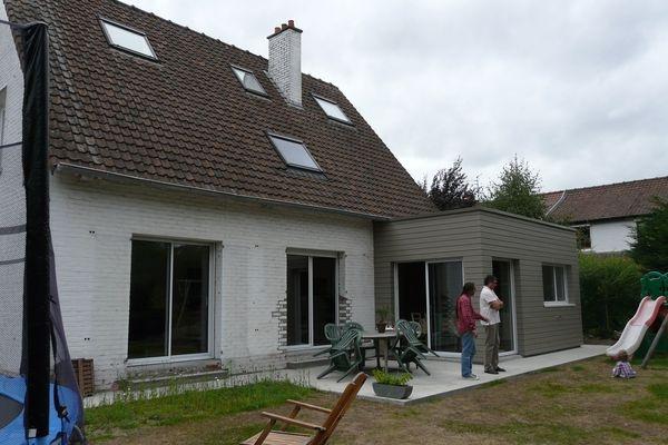 Extension bois d'une maison à Marcq-en-Baroeul. : Après travaux