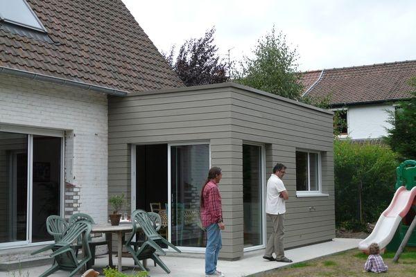 Extension bois d 39 une maison marcq en baroeul marcq en for Abri mural cape cod
