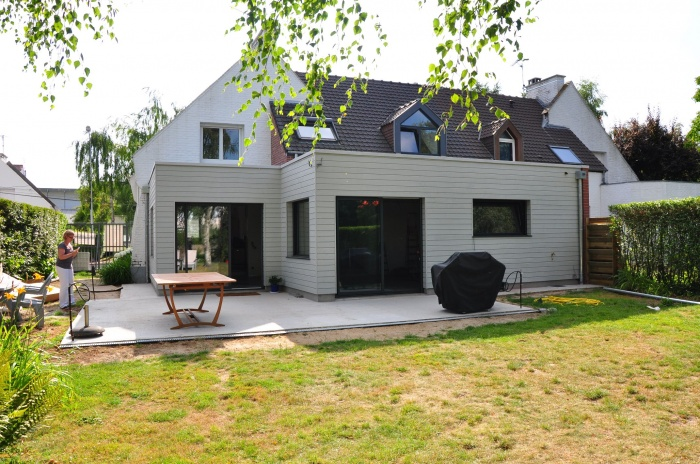 Extension bois maison à Marcq-en-Baroeul