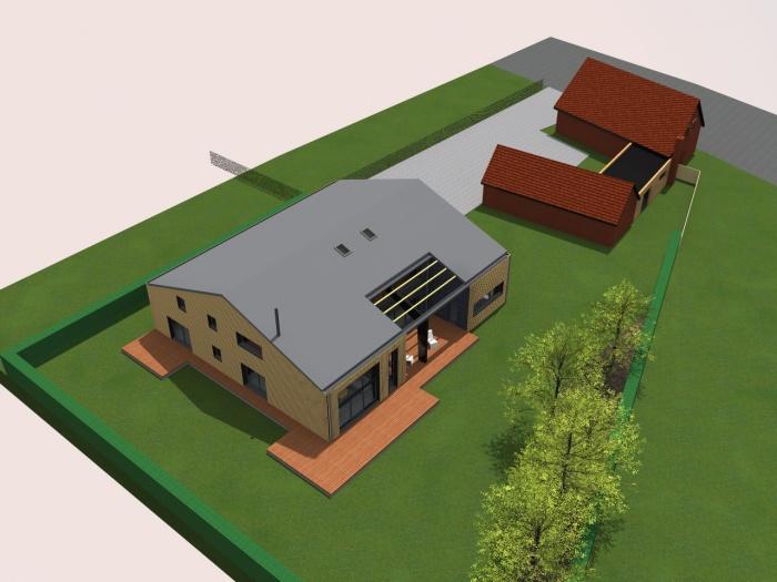 transformation d 39 un hangar en loft bois grenier une r alisation de amiot arnoux architectes. Black Bedroom Furniture Sets. Home Design Ideas