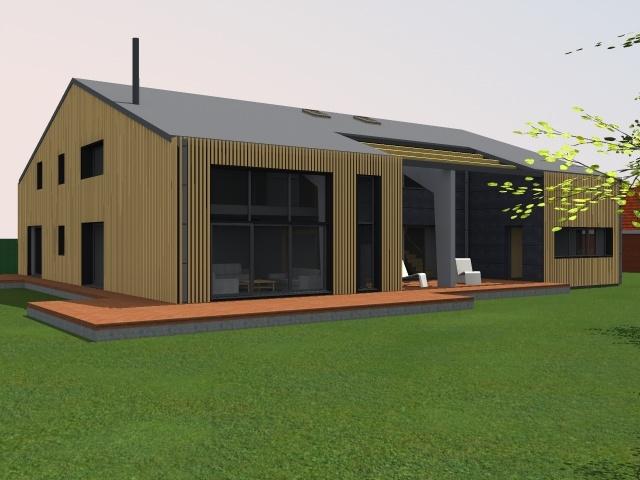 Transformation d 39 un hangar en loft bois grenier - Amenagement hangar en habitation ...