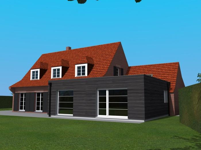 Extension bois d'une maison à Wasquehal