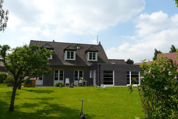 Extension bois d'une maison à Wasquehal : insertion