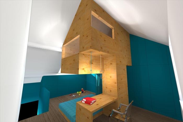 CABANE, aménagement d\'une chambre d\'enfant, d\'un bureau et d\'une ...