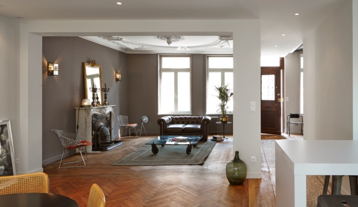 R novation et restructuration d 39 une maion bourgeoise pr s for Ecole decoration interieur lille