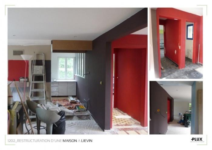 am nagement d 39 une maison pr s de lens 62300 li vin une r alisation de plux. Black Bedroom Furniture Sets. Home Design Ideas