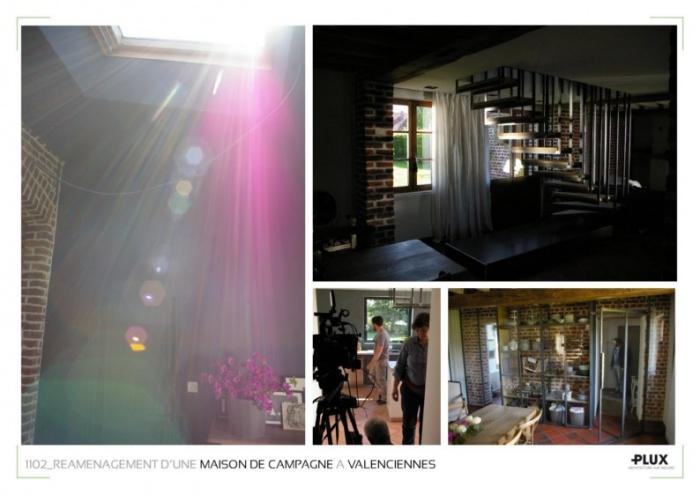 Réaménagement d'une maison de campagne à VALENCIENNES (59300) : architecte architecte d'intérieur lille nord pas de calais rénovation restructuration aménagement décoration valenciennes