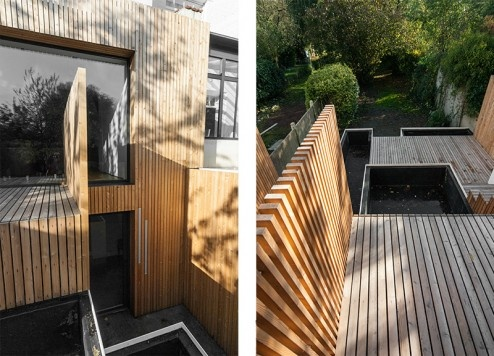 FENÊTRE SUR JARDIN, Réhabilitation et extension d'une maison de ville, aménagement d'une terrasse et des espaces extérieurs à Marcq en Baroeul : DIENTRE_fenetre_sur_jardin_terrasse03-494x356