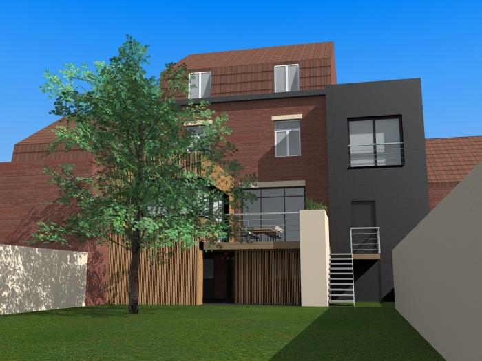 Extensions d'une maison à Linselle