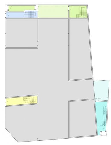 Maisons de ville : plan de rez-de-chaussée