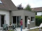 Extension bois d'une maison à Marcq-en-Baroeul.