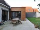 Extension bois d'une maison à Aubers